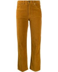 Vanessa Bruno Corduroy Cropped Pants - Brown