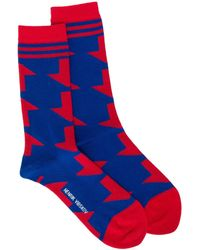 Henrik Vibskov Arrow Print Socks - Red