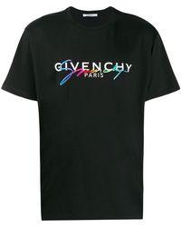 Givenchy T-shirt Rainbow Logo - Noir