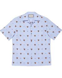 Gucci タイガーヘッド シャツ - ブルー
