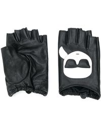 Karl Lagerfeld Vingerloze Handschoenen - Zwart