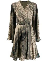 Etro Платье Мини С Длинными Рукавами - Многоцветный