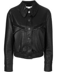 Stella McCartney Куртка-бомбер Из Искусственной Кожи - Черный