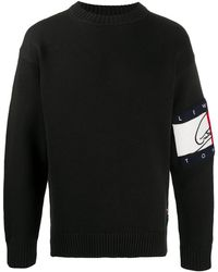 Tommy Hilfiger ロゴ セーター - ブラック