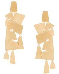 Annie Costello Brown - Oversized Geometric Pendant Earrings - Lyst
