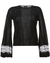Giambattista Valli Bell-sleeve Sweater - Black