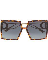 Dior Солнцезащитные Очки 30 Montaigne В Квадратной Оправе - Коричневый