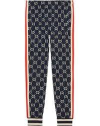 Gucci - Pantalones de chándal con GG en jacquard - Lyst