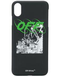 Off-White c/o Virgil Abloh Iphone Xs Max Graphic Print Case - Zwart