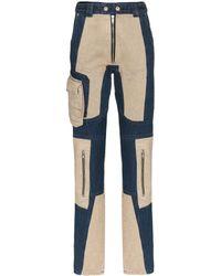 GmbH Patchwork Skinny Jeans - Blue