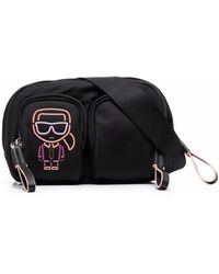Karl Lagerfeld Ikonik Biarritz ベルトバッグ - ブラック