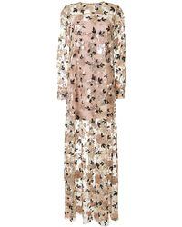 Macgraw Soiree Sequin Maxi Dress - Metallic