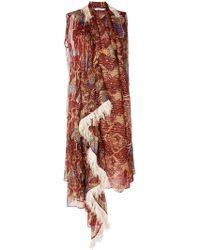 Tsumori Chisato - Embroidered Asymmetric Dress - Lyst