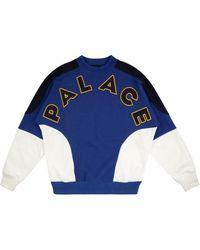 Palace Roundhouse 2 Da Face Sweatshirt - Blue
