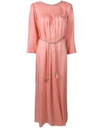 Forte Forte Длинное Платье-туника Со Складками - Розовый