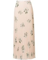 Dondup - Floral Print Pleated Skirt - Lyst