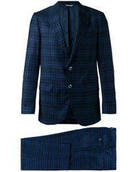 Fashion Clinic Two-piece Plaid Suit - Blue