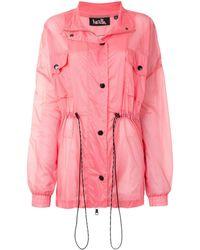 Haculla Drawstring Long-sleeve Jacket - Pink
