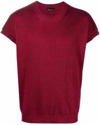 Roberto Collina Fine-knit T-shirt - Red