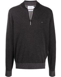 Calvin Klein Пуловер С Воротником На Молнии - Черный