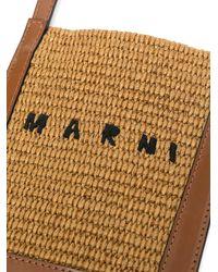 Marni ロゴ ショルダーバッグ - ブラウン
