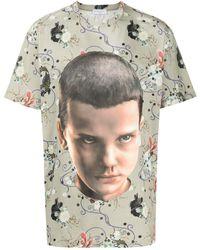 ih nom uh nit Floral Eleven T-shirt - Green