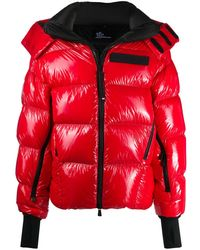 3 MONCLER GRENOBLE パデッドジャケット - レッド