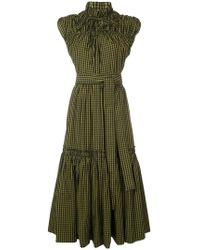 Proenza Schouler - Gingham Tiered Dress - Lyst