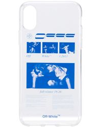 Off-White c/o Virgil Abloh Iphone X Graphic Print Case - White