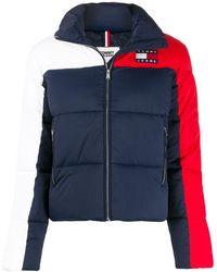 Tommy Hilfiger Colour-block Puffer Jacket - Синий
