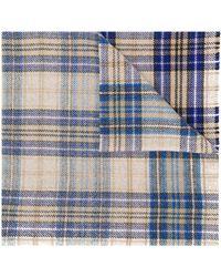 Acne Studios Cassiar Check スカーフ - ブルー