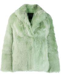 Blancha Fur Jacket - Green