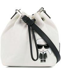 Karl Lagerfeld Сумка-ведро K/ikonik - Белый