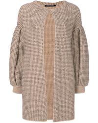 Antonino Valenti - Knitted Draped Coat - Lyst