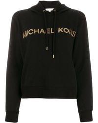 MICHAEL Michael Kors メタリックロゴ パーカー - ブラック