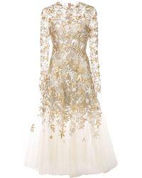 Oscar de la Renta Sheer-styled Ballet Dress - Metallic