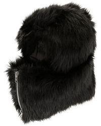 Sacai Zipped Hooded Hat - Black