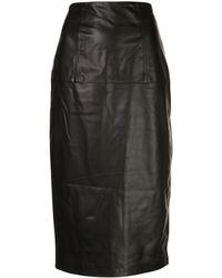 Kiki de Montparnasse Bustle ペンシルスカート - ブラック