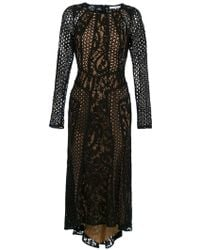 Martha Medeiros Miranda Lace Midi Dress - Black