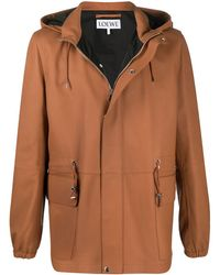 Loewe Hooded Jacket - Brown