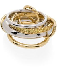Spinelli Kilcollin - Luna ダイヤモンド リング 18kイエローゴールド&18kホワイトゴールド - Lyst