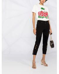 Gucci Cropped-Jeans - Schwarz
