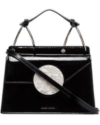 Danse Lente Patent Leather Phoebe Bis Bag - Black
