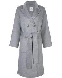 Anine Bing Двубортное Пальто Dylan - Серый