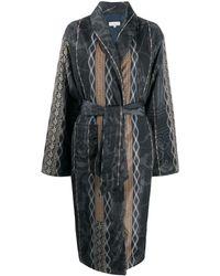 Pierre Louis Mascia Floral Print Robe Coat - Серый