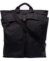 Y-3 Tonal-logo Tote Bag - Black