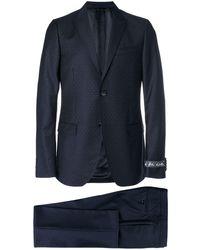 Gucci ドット ツーピーススーツ - ブルー