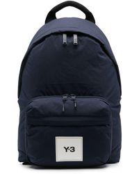 Y-3 ロゴパッチ バックパック - ブルー