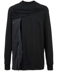 Rick Owens Draped Panel Sweatshirt - ブラック