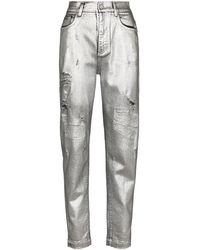 Dolce & Gabbana High Waist Jeans - Metallic
